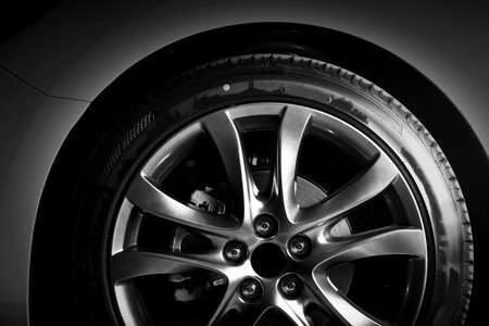 Wheel on a car
